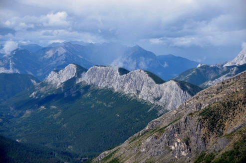 View from Sulphur Rdige, Miette Hot Spings, Jasper National Park.