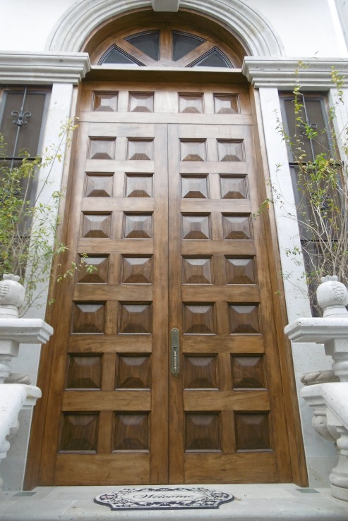 What were several pieces of wood have been transformed into this magnificent door.