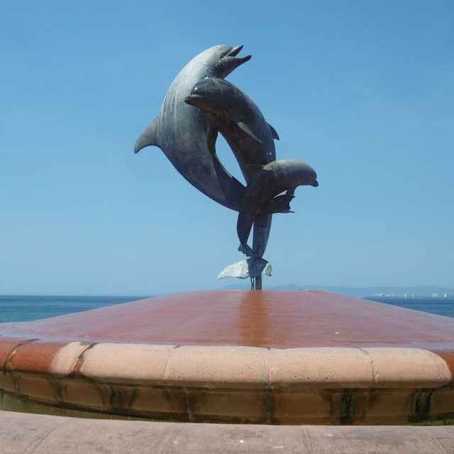 "Dancing Dolphins, ""Frienship Fountain"",by James ""Bud"" Bottoms & Octavio Gonzalez, 1987"
