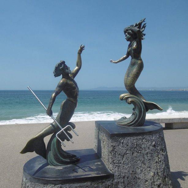 Triton and Mermaid by Carlos Espina, 1990