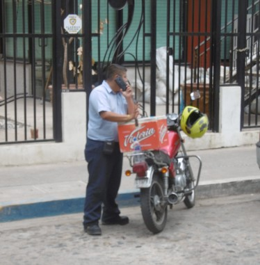 Your typical delivery vehicle in Puerto Vallarta.
