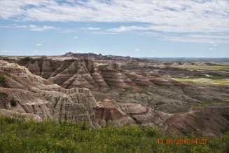 Badlands of South Dakota.